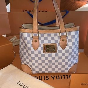 Louis Vuitton Damier Azur Hampstead PM Hand Bag